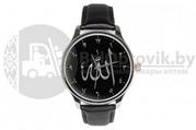 Часы Создатель с арабскими цифрами на классическом чёрном ремешке